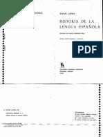 Lapesa Historia de La Lengua Espanola