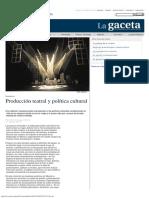La Gaceta UdeG _ Producción Teatral y Política Cultural