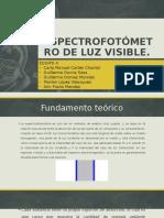 Espectrofotómetro de Luz Visible