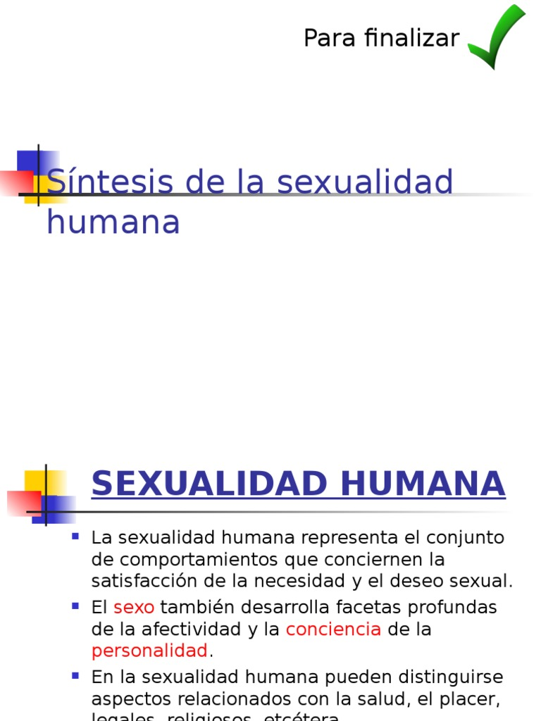sexualidad humana salud ppt