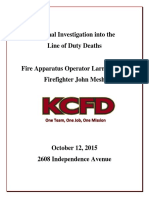 KCFD Internal Investigation into the Line of Duty Deaths