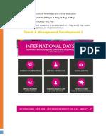 International Days seminars