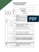 Planificación Inglés Cuarto Medio 2016