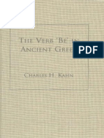 [Charles H. Kahn] the Verb 'Be' in Ancient Greek