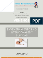 Envenenamientos No Intencionales y Suicidas