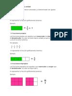 Definiciones de Diversas Fracciones