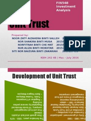 Unit Trust Closed End Fund Investing