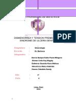 Dismenorrea, Tension Premestrual y Ulcera Genital