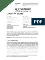 3 2 Liles&Dietz&Rogers&Larson ApplyingTraditionalMilitaryPrinciplesToCyberWarfare