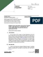 Informe Reciente Sobre Operaciones de Paz