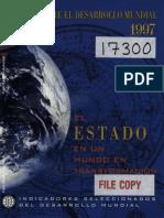 BM Informe Desarrollo Mundial 1997