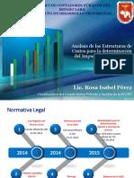 Analisis Estructuras de Costos 2016. Rosa Pérez