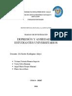 Depresión y Ansiedad en Universitarios