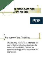 Training Program for Appraisers