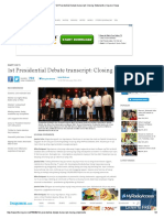 1st Presidential Debate Transcript_ Closing Statements _ Inquirer News