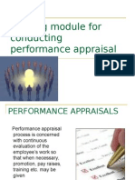 Training module for conducting performance appraisal interview