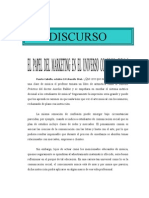 Discurso - El Papel Del Marketing en El Universo Comunicacional