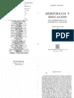 John Dewey - Democracia y Educación