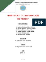 Monografia Contraccion de Redes y Pert Cost