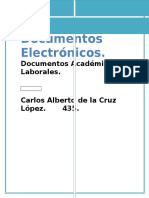 Tipos de Documentos Académicos y Laborales