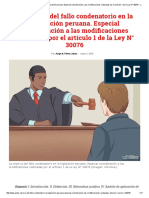 La reserva del fallo condenatorio en la legislación peruana. Especial consideración a las modificaciones realizadas por el artículo 1 de la Ley N° 30076 - Legis - Legis