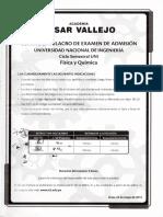 Cuarto Simulacro de Examen de Admision Universidad Nacional de Ingenieria Ciclo Semestral UNI - 2012 Fisica y Quimica