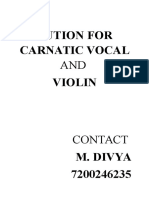 Tution for Carnatic Vocal And