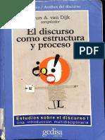El Discurso Como Estructura y Proceso Van Dijk Vol 1