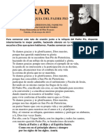 Orar junto a la Reliquia del Padre Pio