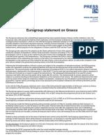 Η απόφαση του Eurogroup