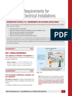 Requirements for 110 Electrical Installations