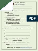 CHA Registration Form (Public Training) Rev 01