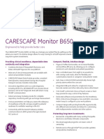 GEHC Site Planning Specifications CARESCAPE Monitor B650 PDF