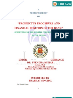 PROSPECTUS PROCEDURE AND FINANCIAL POSITION OF IDBI BANK