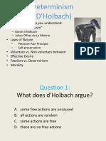 Phil 102 Determinism Holbach(1)