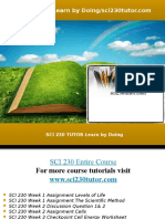 SCI 230 TUTOR Learn by Doing/sci230tutor.com