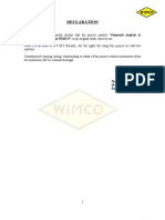 Financial Analysis & Inventory Management in WIMCO