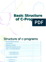 Basic Structure of C-Program