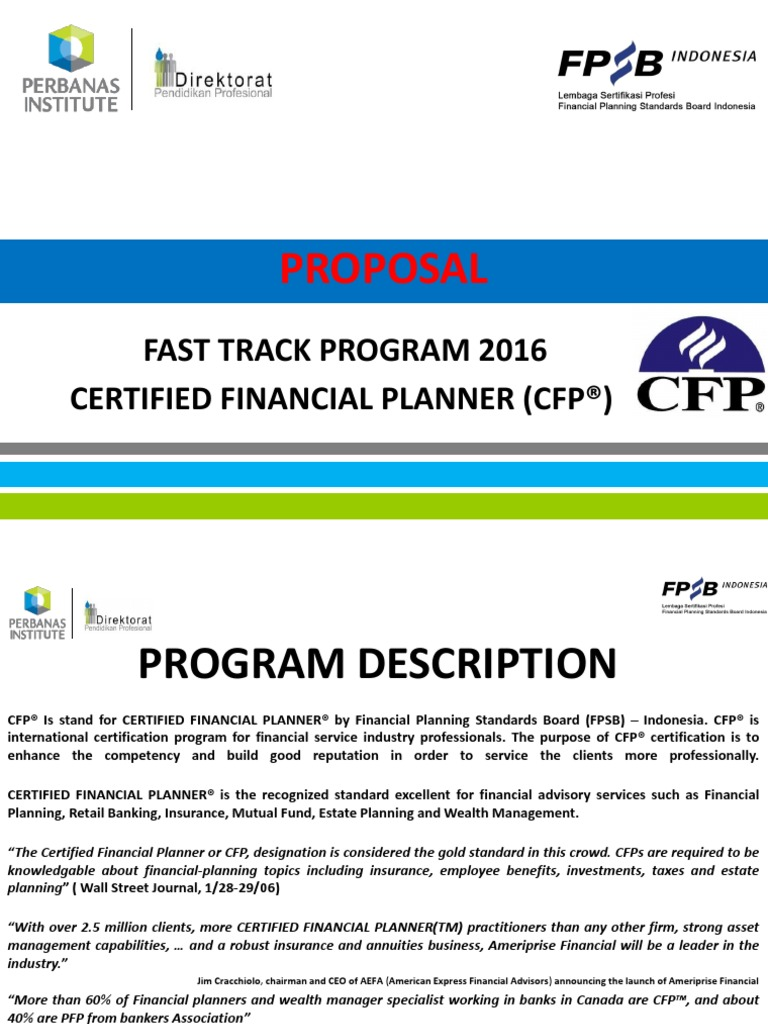 Training Cfp Financial Adviser Equity Finance