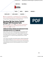 Barcelona Tiki Taka Tactics _ Football Manager 2015 Possession Tactic _ Passion for Football Manager