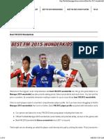 Best FM 2015 Wonderkids • Best FM 2015 Players