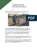 Ejemplos de Deslizamientos en El Perú