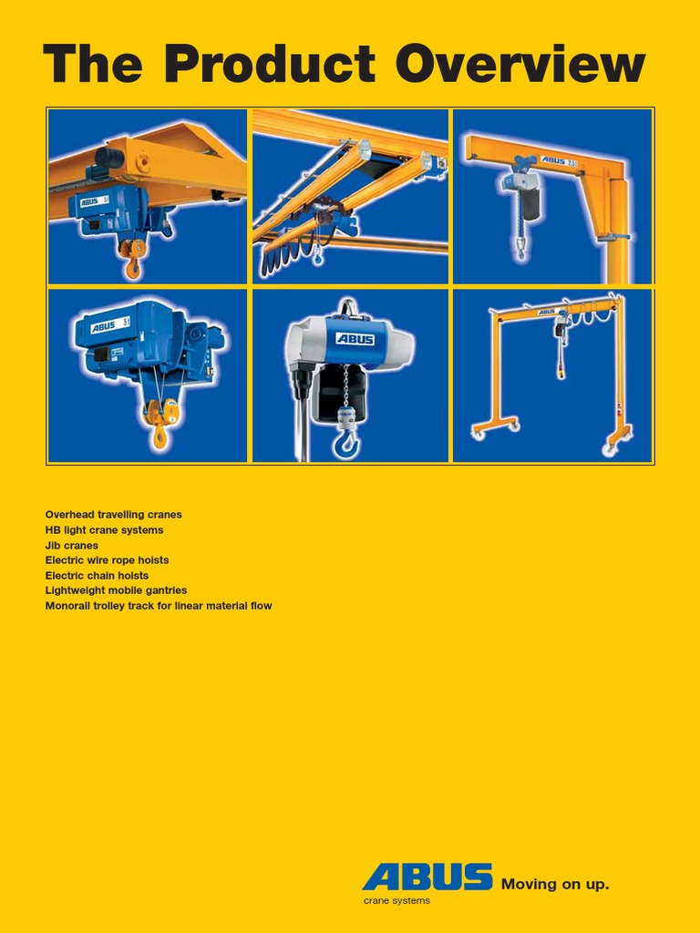 abus cranes catalog crane machine elevator rh scribd com Electric Hoist Manual Rope Hoist