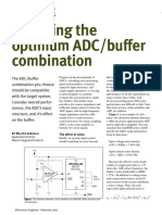 Choosing Optmized ADC_buffer Combination