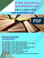 PSY 303 AID Education Expert/psy303aid.com
