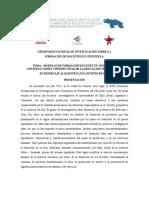 i Seminario de Investigación Sobre La Formación de Docentes en Venezuela