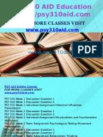 PSY 310 AID Education Expert/psy310aid.com