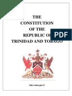 Constitution Of Trinidad & Tobago