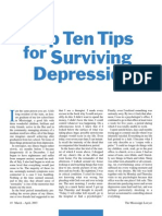 Top Ten Tips 4 Depression