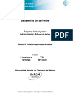 Unidad 3 Administrar Bases de Datos